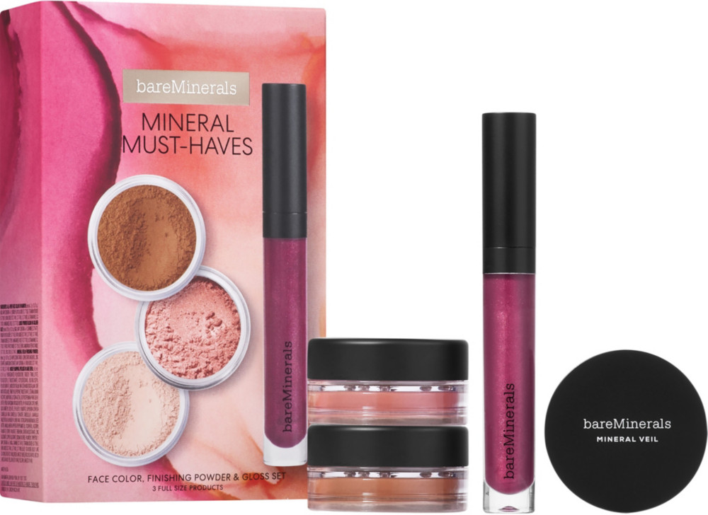Mineral Must Haves Finishing Powder, Full Size Finishing Powder & Gloss Set by Bare Minerals