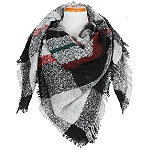 David And Young Classic Plaid Scarf With Self Fringe