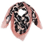 David And Young Leopard Print Scarf With Self Fringe