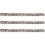 Kitsch Rose Gold Rhinestone Bobby Pins