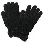 David And Young Diamond Pattern Cozy Gloves