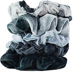 Kitsch Tie-Dye Scrunchies In Blue Grey