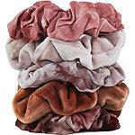 Kitsch Tie-Dye Scrunchies In Rust Tones