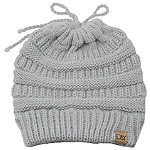 David And Young PonyFlo Messy Bun Beanie With Tie