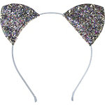 Riviera Glitter Jingle Bell Cat Ear Headband