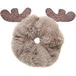 Riviera Faux Fur Reindeer Scrunchie