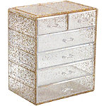 Sorbus Glitter Cosmetic Makeup and Jewelry Storage Case