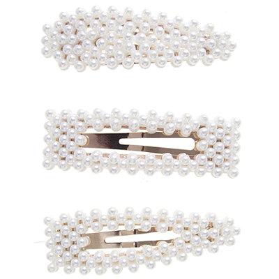 Mixed Pearl Clip Set