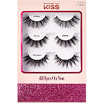 Kiss All Eyes On You Assorted Lashes Holiday 3 Pack
