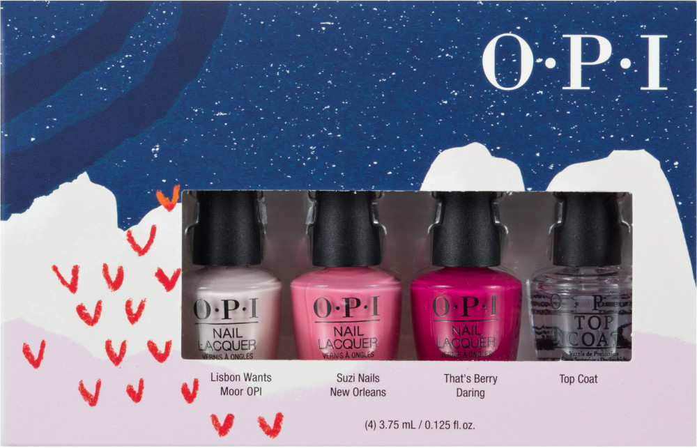 Holiday '19 Nail Lacquer Pink's Mini 4 Pack by Opi