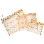 BÉIS The Mesh Pouch Trio Beige