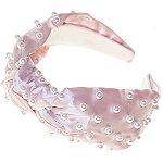Riviera Pearl Embellished Knot Headband
