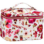 Tartan + Twine Fushsia Pressed Floral Deluxe Train Case