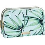 Tartan + Twine Tropical Leaves Duo Zip Beauty Clutch