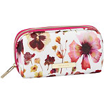 Tartan + Twine Fushsia Pressed Floral Pencil Case
