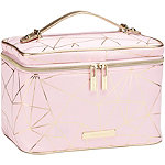 Tartan + Twine Gold Foil Pink Geo Deluxe Train Case Set