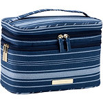 Tartan + Twine Blue Stripe Double Zip Train Case