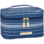 Tartan + Twine Blue Stripe Train Case