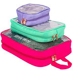 Miamica 3 Piece Travel Packing Cubes