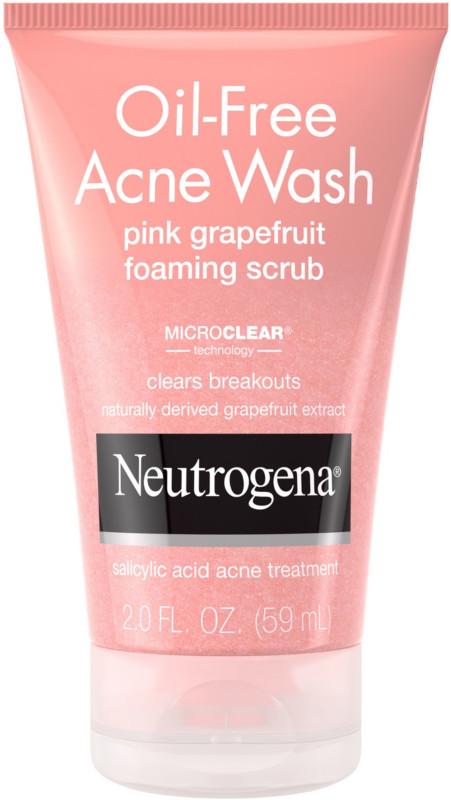 Neutrogena Oil Free Pink Grapefruit Acne Wash Face Scrub Ulta Beauty