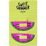 Sweet & Shimmer Watermelon Hair Clips