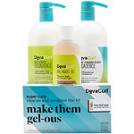 DevaCurl Online Only Make Them Gel-ous Super Curly Cleanse & Condition Liter Kit