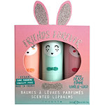 Inuwet Friends Forever Aqua Bunny Lip Balm Set