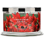 HomeWorx Online Only Christmas Lilies 4 Wick Candle