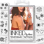 Inked by Dani Temporary Tattoos Flower Child Pack