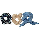 Jessica Simpson Ivory, Navy, and Blue Scrunchies