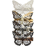 Jessica Simpson Rose Gold, Gold, and White Butterfly Clips