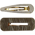 Jessica Simpson Textured Plastic Hair Clips