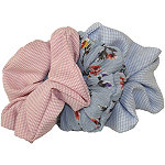 Jessica Simpson Blue, Pink, and Coral Scrunchies