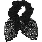 Capelli New York Black Embroidered Tailed Eyelet Twister
