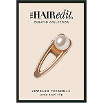 The Hair Edit Jeweled Triangle Large Pearl Clip