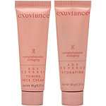 Exuviance FREE Age Reverse Toning Neck Cream + HydraFirm deluxe sampler with any $50 Exuviance purchase