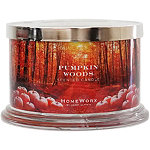 HomeWorx Pumpkin Woods 4 Wick Candle