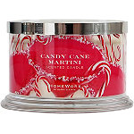 HomeWorx Candy Cane Martini 4 Wick Candle