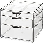 iDesign Onyx Cosmetic 3 Drawer Organizer