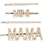 Riviera Mama & Mini Embellished Bobbies