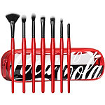 Morphe Coca-Cola X Morphe Sweep It Real 7-Piece Eye & Highlighter Brush Collection + Bag