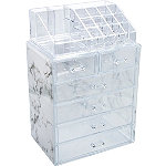 Sorbus Luxe Marble Cosmetic Makeup and Jewelry Storage Case Display