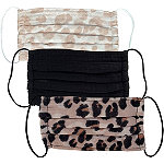 Kitsch Leopard 100% Cotton Face Mask Set