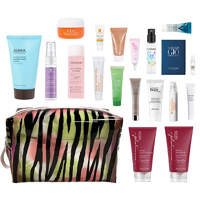 Free 18 Piece Zebra Beauty Bag with 85 purchase