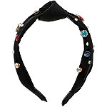 Scünci Black Jeweled Knot Headband
