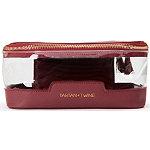 Tartan + Twine Clear Cosmetic Box Burgundy