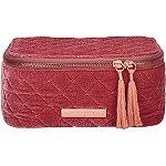 Tartan + Twine Velvet Cosmetic Box Pink