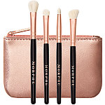 Morphe Rosé Play 4-Piece Mini Eye Brush Set + Bag