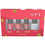 OPI Shine Bright Holiday Warm Red 4 Piece Mini Pack