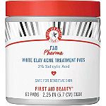 First Aid Beauty FAB Pharma White Clay Acne Treatment Pads 2% Salicylic Acid